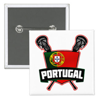 Portugal Português Lacrosse Pinback Button