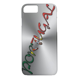 Portugal Portuguese Flag Color Typography Silver iPhone 8/7 Case