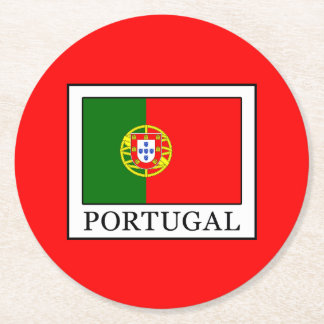 Portugal Round Paper Coaster