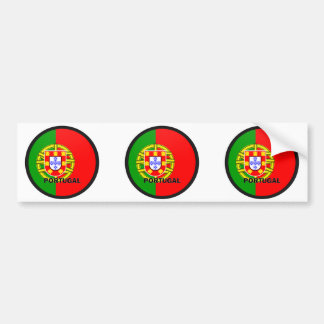 Portugal Roundel quality Flag Bumper Sticker