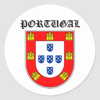 Portugal shield classic round sticker