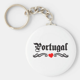 Portugal Tattoo Style Key Ring
