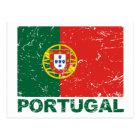 Portugal Vintage Flag Postcard