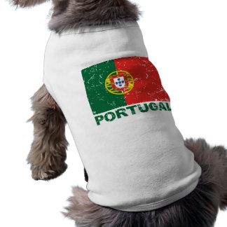 Portugal Vintage Flag Sleeveless Dog Shirt