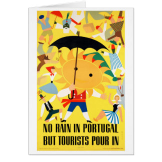 Portugal Vintage Travel Poster Restored Card