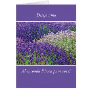 Portugese Easter Rejoicing, Lavender Flower Card