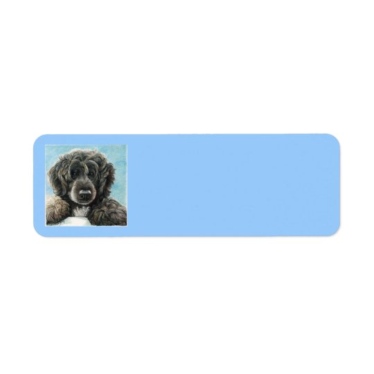 Portugese Water Dog Address Label