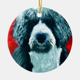 Portugese Water Dog Ceramic Ornament