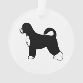 portugese water dog color silhouette.png ornament