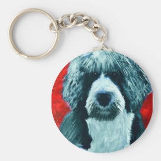 Portugese Water Dog Key Ring