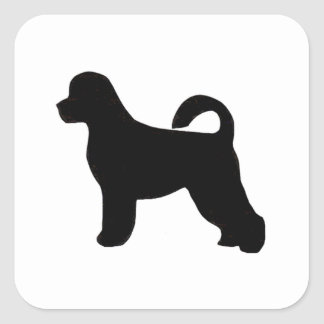 portugese water dog silhouette.png square sticker