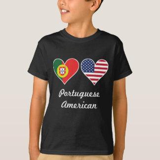 Portuguese American Flag Hearts T-Shirt