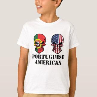 Portuguese American Flag Skulls T-Shirt