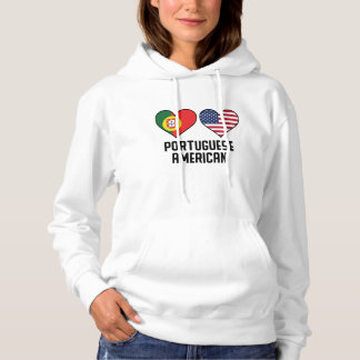 Portuguese American Heart Flags Hoodie