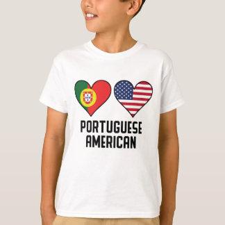 Portuguese American Heart Flags T-Shirt