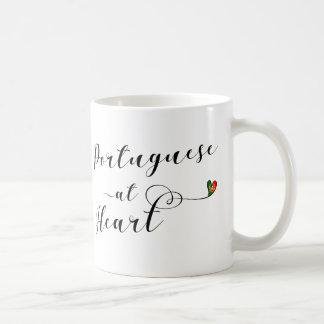 Portuguese At Heart Mug, Portugal Coffee Mug