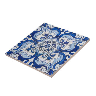 Portuguese Azulejo Pattern Tile
