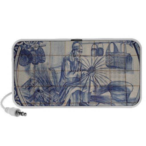 Portuguese azulejo tiles notebook speakers