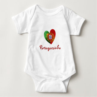 Portuguese: baby heart & flag baby bodysuit