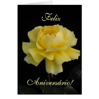 Portuguese Birthday: Rosa para o seu Aniversario! Card