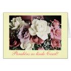 Portuguese: Casamento / wedding roses Card
