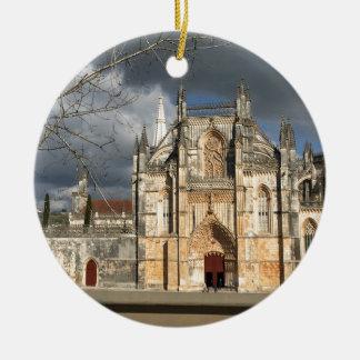Portuguese castle round ceramic decoration