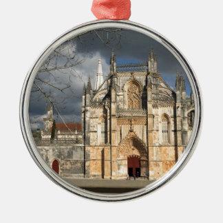 Portuguese castle Silver-Colored round decoration