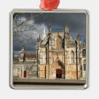 Portuguese castle Silver-Colored square decoration