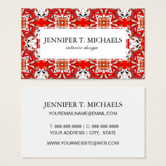 Portuguese Ceramic Tile Pattern Business Card