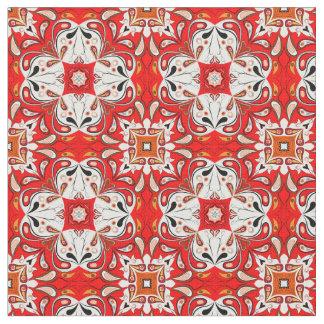 Portuguese Ceramic Tile Pattern Fabric
