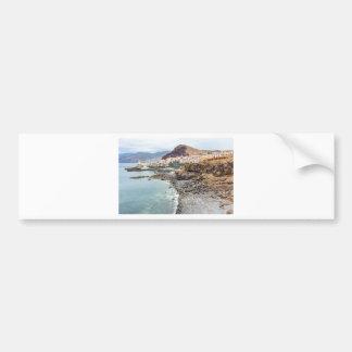 Portuguese coast with sea beach mountains village bumper sticker