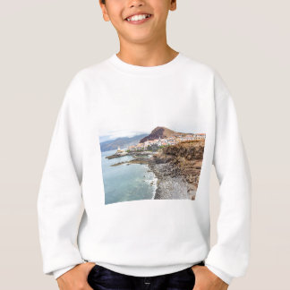 Portuguese coast with sea beach mountains village sweatshirt