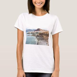 Portuguese coast with sea beach mountains village T-Shirt