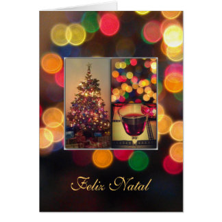Portuguese: Feliz Natal - Christmas lights Card