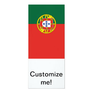 Portuguese Flag 10 Cm X 24 Cm Invitation Card