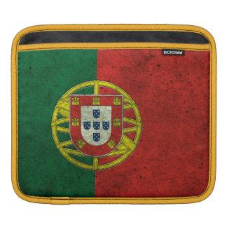 Portuguese Flag Aged Steel Effect iPad Sleeves