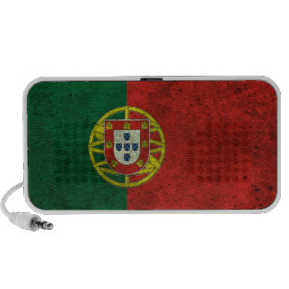 Portuguese Flag Aged Steel Effect Mini Speakers