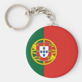 Portuguese Flag Basic Round Button Key Ring