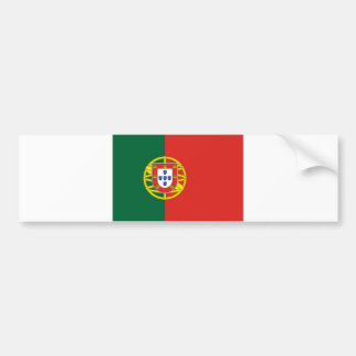 Portuguese flag bumper sticker