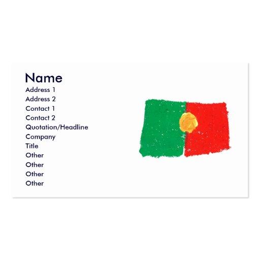 Portuguese Flag Business Card Templates