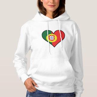 Portuguese Flag Heart Hoodie