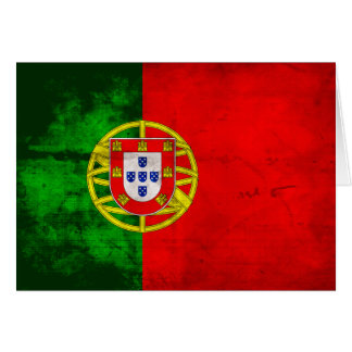 Portuguese Flag Note Card