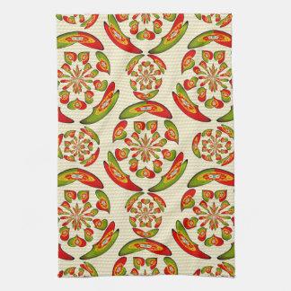 Portuguese flag pattern tea towel