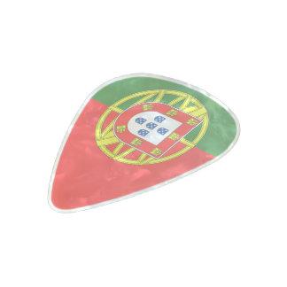 Portuguese flag pearl celluloid guitar pick