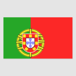 Portuguese flag rectangular sticker