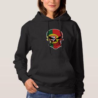 Portuguese Flag Skull Hoodie