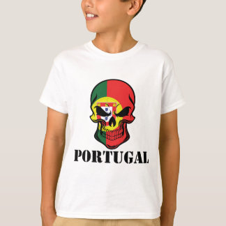 Portuguese Flag Skull Portugal T-Shirt