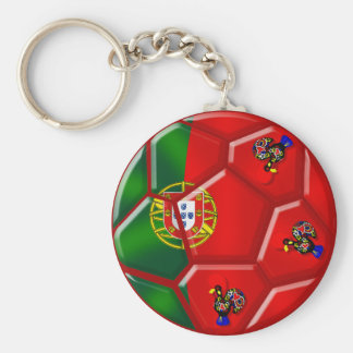 Portuguese flag soccer ball for das Quinas Tees Basic Round Button Key Ring