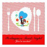 Portuguese Food Night 13 Cm X 13 Cm Square Invitation Card