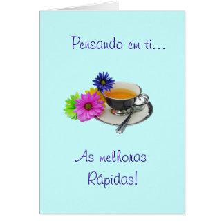 Portuguese: Get well - As melhoras! Card